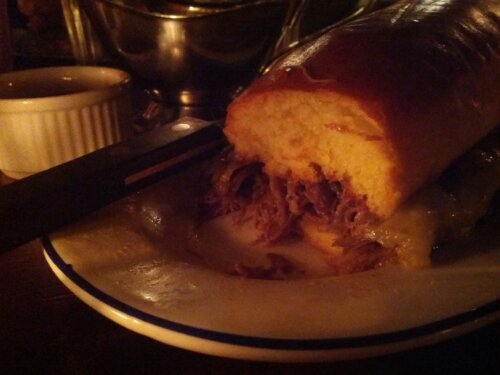 Shortrib French dip at Hawksmoor Bar