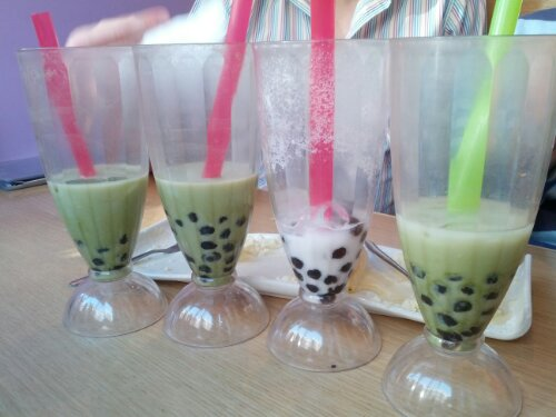 Matcha bubble tea at Boba Jam