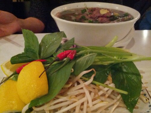 Classic beef pho at Cay Tre