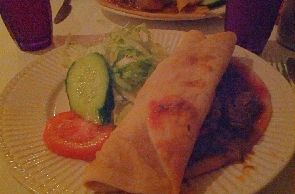 Mutton roti at Jerk City
